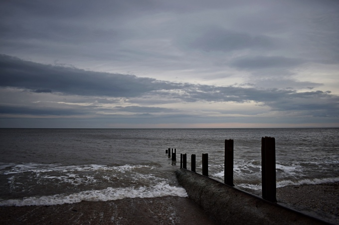 North sea with groyne